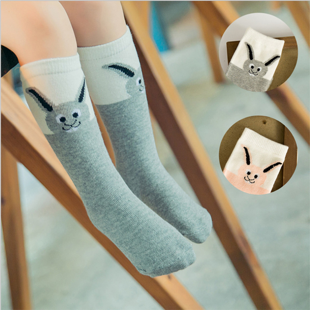1 пара 2016 весна осень новинка девочку носки розовый серый мультфильм кролик мягкого ...