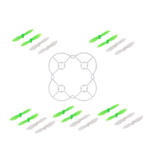10 Pairs Propellers and Protective Guard Ring Set for Cheerson CX-10 CX10 RC Drone Part