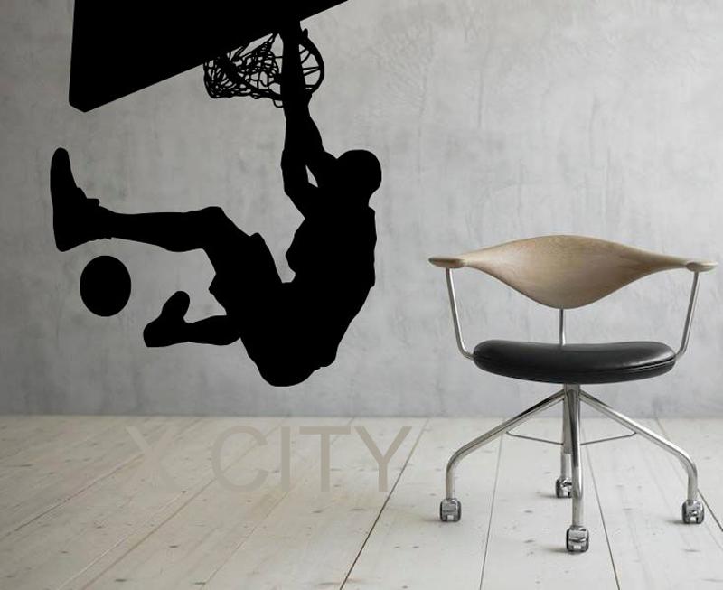 NBA Slam Dunk Basketball Sport WALL ART STICKER VINYL DECAL ROOM STENCIL REMOVABLE MURAL HOME OFFICE DORM DECOR(China (Mainland))