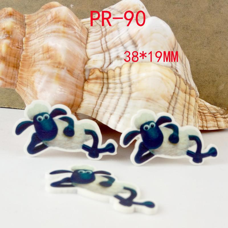 Cartoon patch Run of the sheep Figurine crafts flat back planar resin acrylic DIY headwear hair accessories garden decoration(China (Mainland))