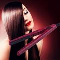 Mini EU Electronic Ceramic Hair Straightener Straightening Iron Tool 220V Red 2016 Hot