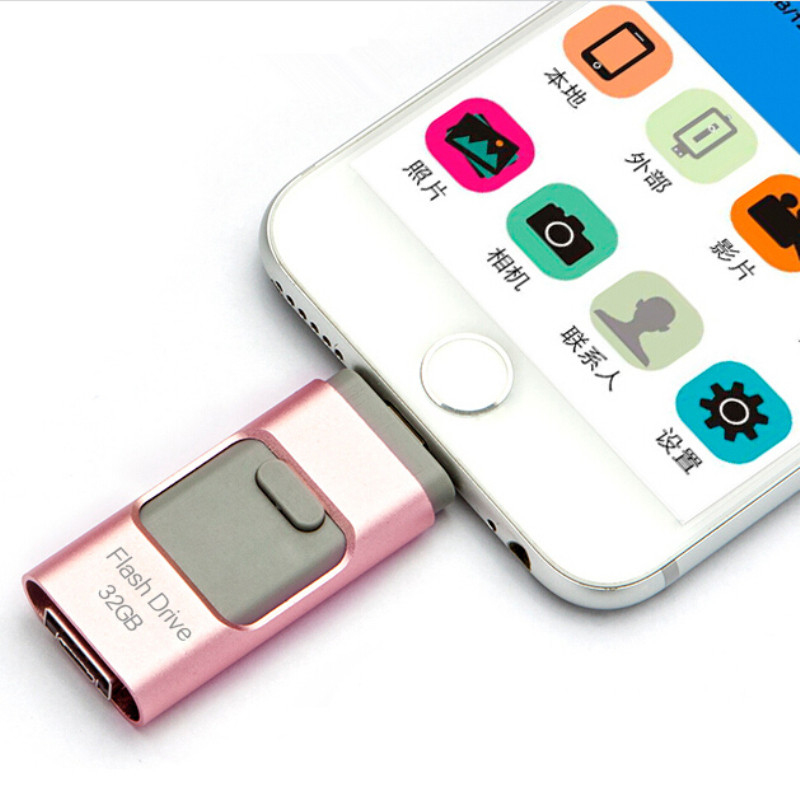 Newest i-Flash iFlash Drive HD U-Disk Micro USB interface 3 in 1 for Android/iPhone 5/6/5s/6Plus iPad iPod/PC/MAC 8/16/32/64GB(China (Mainland))