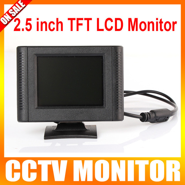 2.5 Inch Digital TFT LCD Color Car Monitor CCTV Camera Monitor with 1Way Video Input