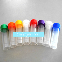 5ml Cryotubes With a Scale Scrub Wall Screw Capsule With Washers PP Centrifuge Bottle Blending 50PCS Lab Supplies