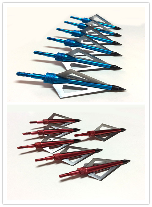 6pc broadheads fixed blade for hunting archery 100 grain arrow head 6Pc aftershock hunting arrow head