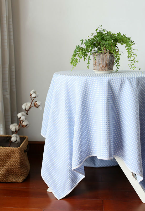 Handmade woven cotton jacquard Tablecloth Talasite face large thick lace edge elegant American style(China (Mainland))