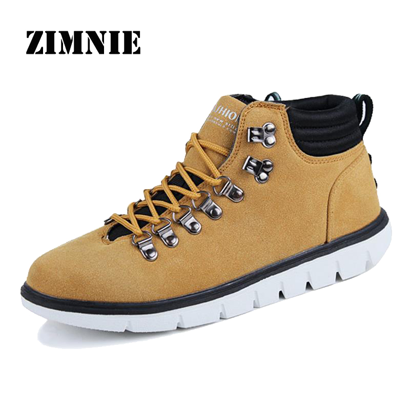 Winter Handmade Men Boots Male Casual up Leather Shoes Plus Fur Velvet High Top Shoes Fashion Street Winter Snow Ankle Boots<br><br>Aliexpress