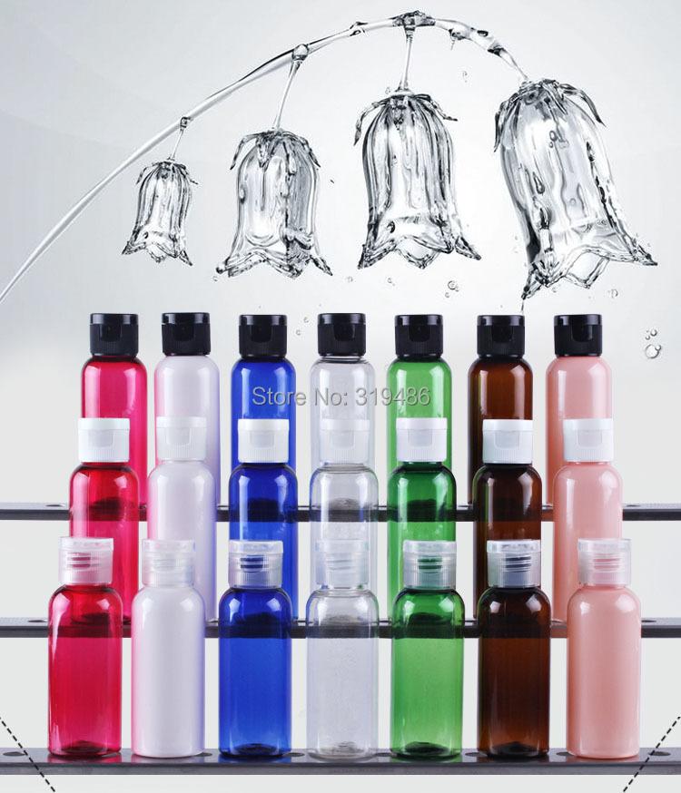 300pcs/lot 50ml Plastic Bottle, PET White Flip Cap Bottle,High-Grade Comestic Bottle LW-D-50B(China (Mainland))