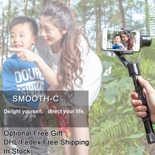 Free EMS DHL Zhiyun Z1-Smooth c r/ C PLUS Handheld Stabilizer Brushless Gimbal for iPhone 6 plus Samsung S5 S6 Smartphone