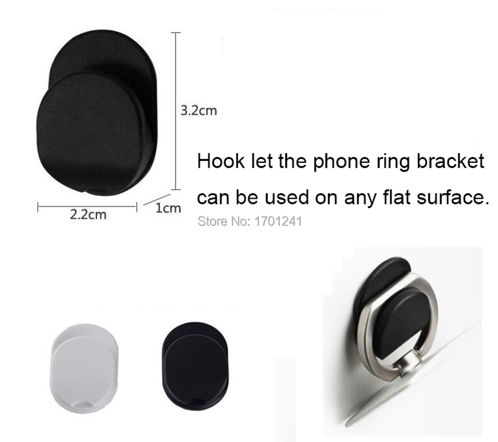 New Universal Mobile Phone Holder With Hook And Cute Cat Pattern Blu-ray Phone Ring Stands Stickers With Retail Box And Hook