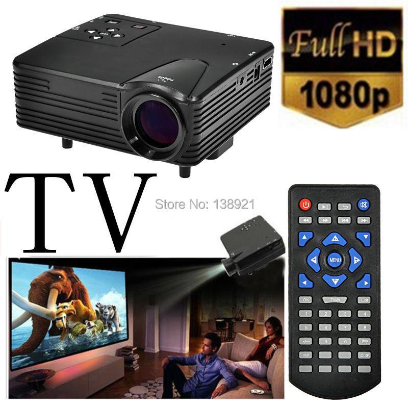H100 Portable Mini Game TV Home Cinema Theater Multimedia LED LCD Projector PC AV VGA USB HDMI 1080P Black(China (Mainland))