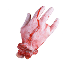 Amazing Halloween Horror Props Toys Bloody Fake Hand Haunted House Masquerade Party Decoration(China (Mainland))