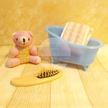 Bath sets natural Little bear bath sponge wood comb bathroom sets mini bathtub Bathroom Storage set(China (Mainland))