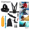 Gopro Accessories 9 in 1 Kit Chest Body Strap Tripod Floaty Bobber Monopod Wrench For Gopro