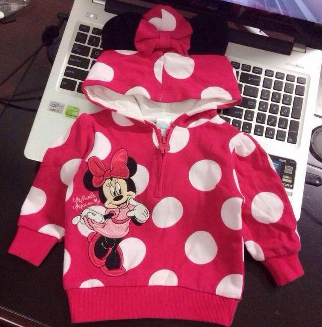 Гаджет  Newborn Infant Baby Girls 100%Cotton Polka Dot Cartoon Hoodie Tops Hoodies Costume  0 1 2T None Детские товары