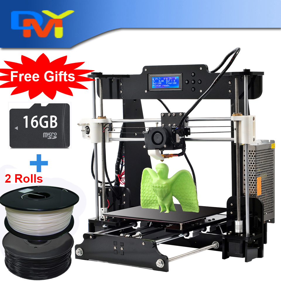 2016 Upgraded Full Acrylic Quality High Precision Reprap Prusa i3 DIY 3d Printer Kit with 2