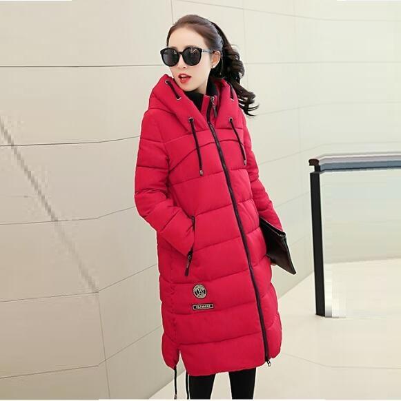 2015 New! winter jacket women Long Slim Hooded Down jacket  thick warm waterproof Outerwear Winter coat women plus size clothing