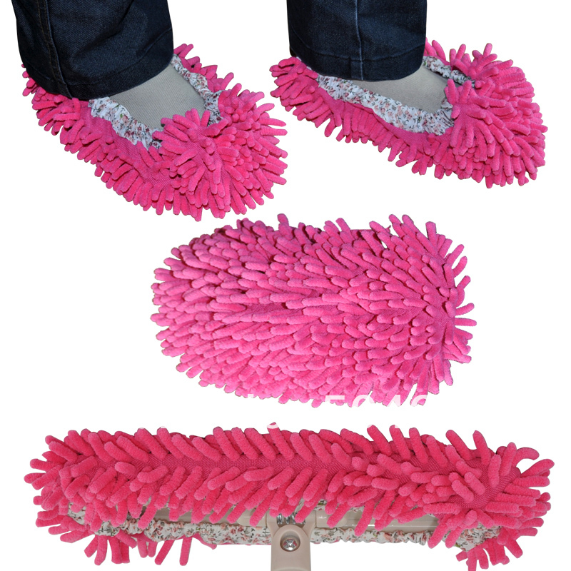 Free shipping Cute Fuzzy shoes cover Cleaning Shoes Lazy Slippers Scrubbing Floor Shoes Clean Shoes Floor Cleaner Slipper Mop <br><br>Aliexpress
