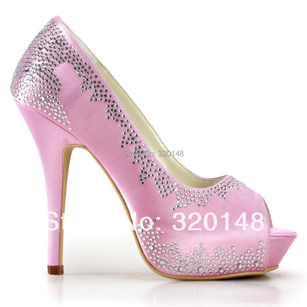 Pink Satin High Heels