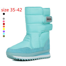 10 Colors 2015 Women Winter Boots Waterproof Slip-resistant Thermal Flat Heel Snow Boots YH5687(China (Mainland))