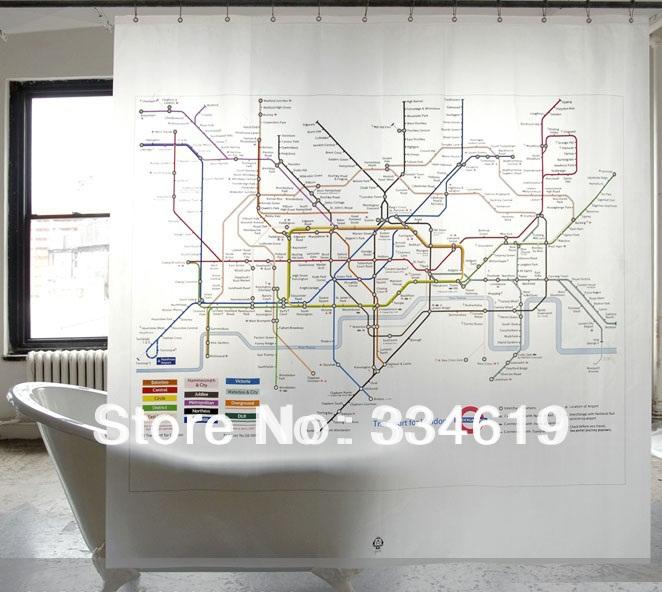 Livraison gratuite marque new london m tro carte salle de - Rideau de douche en tissu impermeable ...
