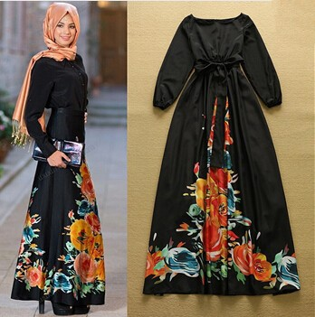 Newest 2015 Women' Vintage Print Dress Summer Style Fashion Maxi Long Party Plus Sizes Dresses Boho Ladies Elegant Clothing(China (Mainland))
