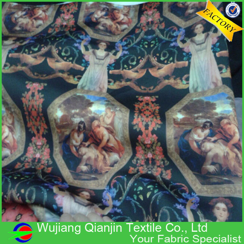 2016 New arrival polyester spandex scuba fabric wholesale(China (Mainland))