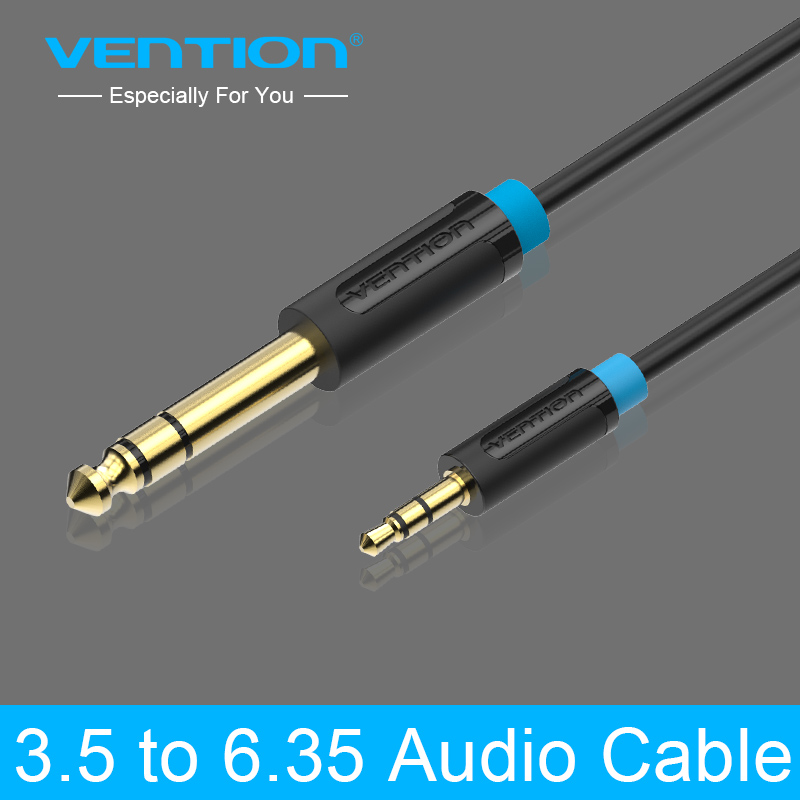 Vention 3.5mm 6.35mm Adapter Jack Audio Cable Mixer Amplifier Male Male 2m 3m 5m 10m Aux Cabo