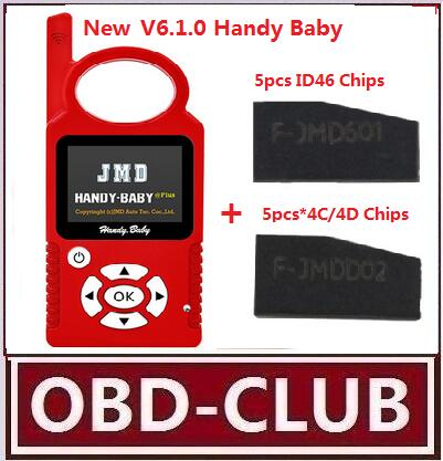 New V6.10 Handy Baby CBAY Hand-held Car Key Copy Auto Key Programmer for 4D/46/48Chip with CBAY Chip Replace for 468 KEY PRO III(China (Mainland))