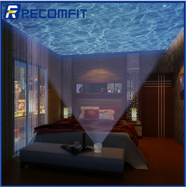 Romantic Ocean Waves Light Relax Projector Pot Lamp LED Night Music Projection with Speaker Function for PC Laptop MP3 MP4 gift(China (Mainland))