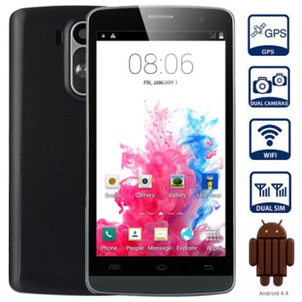 G3 MTK6582 Quad Core Android 4.4 Smartphone 5.0 inch Display 4GB ROM mobile phone Dual Cameras(China (Mainland))