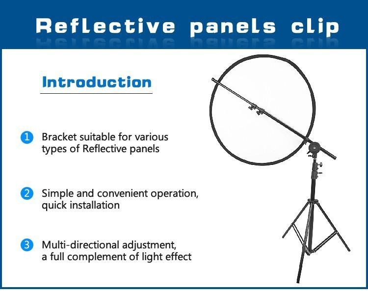 ถูก Hpusn fotografiaสตูดิโอถ่ายแสงสะท้อนยึดผู้ถือg rip 68-180เซนติเมตรโฮลดิ้งบูมข้ามสะท้อนยืนอุปกรณ์