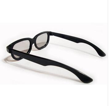 500PCS/Lot Plastic linear polarized 3D Glasses Free shipping(China (Mainland))