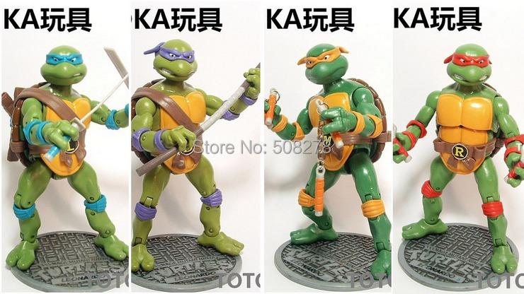 4pcs/set Classic anime Teenage Mutant Ninja Turtles Action Figure Toys 16CM Boys Gift - Chongqing Merry Time Trading Co.,Ltd. store
