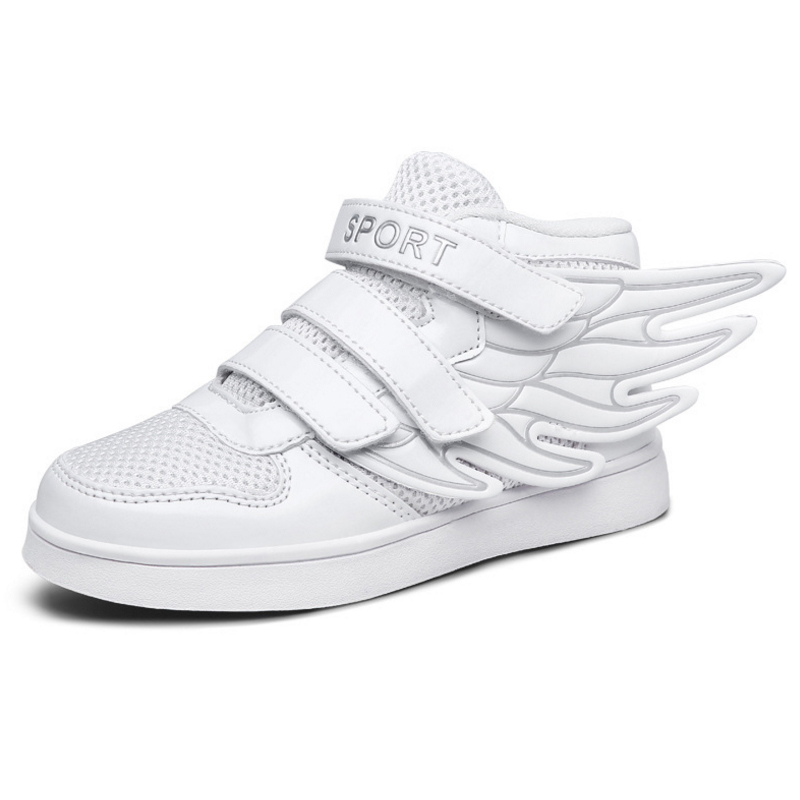 2016 children's sports shoes for men and women fashion lace wings Spring new leisure solid color(China (Mainland))