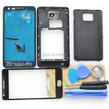 Original i9100 Complete Full Housing for Samsung Galaxy S2 Back Cover Middle Frame Bezel Front Glass