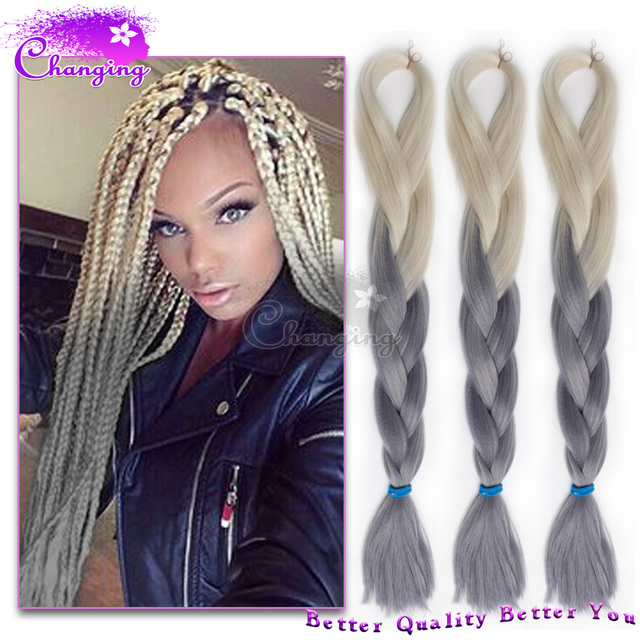 Ombre Kanekalon Braiding Hair 100g/Pc Two Tone Kanekalon