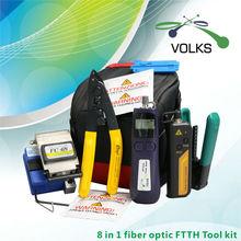 8 In 1 Fiber Optic FTTH Tool Kit FC-6S Fiber Cleaver Optic Power Meter 12km Visual Fault Locator(China (Mainland))