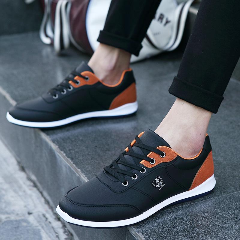 <font><b>LEMAI</b></font> New 2016 PU Leather Shoes Shoes Men Flats Lace Up Autumn Men Casual Shoes Zapatillas Hombre