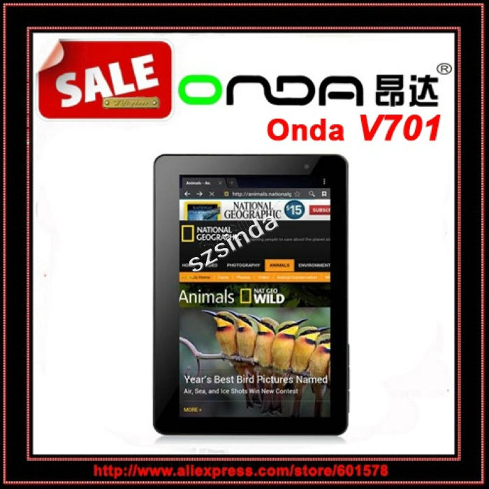 beiyong---On Sale Original Onda V701 DUAL CORE 7inch Capacitive Screen 1.5GHz 8G WiFi 1080P HDMI Camera Android 4.0 Tablet PC