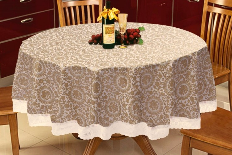Anti-oil waterproof round tablecloths Disposable tablecloths plastic Continental Coffee Garden Art Wallpapers(China (Mainland))