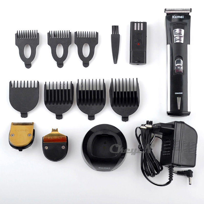 New Electric Hair Clipper with Rechargeable Battery 7 Cutting Combs 3 Heads Professional Hairclipper Trimmer for Men Family 66(China (Mainland))