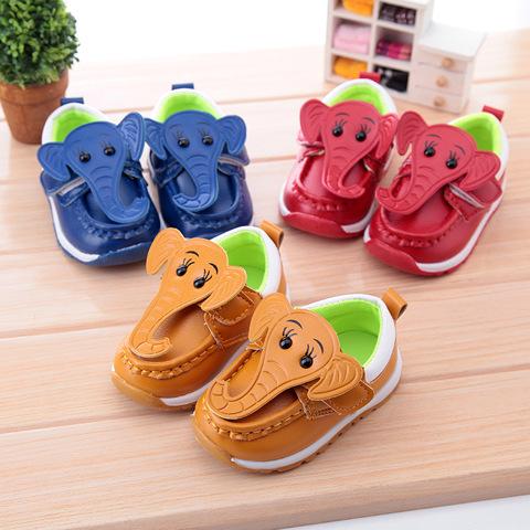 Baby leather shoes first walker 2015 autumn girls cute female baby single soft cartoon tenis infantil nina 112b