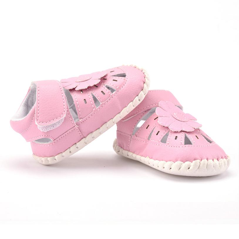 Baby First Walker Hollow Out Flowers Breathable PU Leather Soft Bottom Toddler Shoes Outdoor Garden Shoes #2132(China (Mainland))