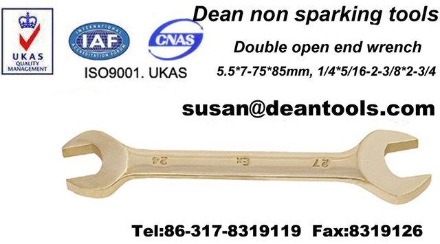 Non sparking copper alloy  double open end spanner