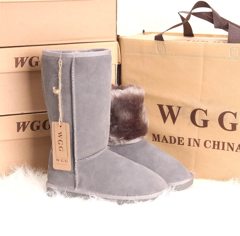 2015 WGG Snow Boots Leather Boots High-Leg Women Boots Winter Genuine Leather Sapatos Femininos Grey Cow Leather Botas 7 Color(China (Mainland))