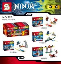 SY226 Ninjago Building Blocks Ninja Minifigures Thunder Sworosman Cool Red War Chariot Kids Bricks Action Compatible Lego - MU&Co. store