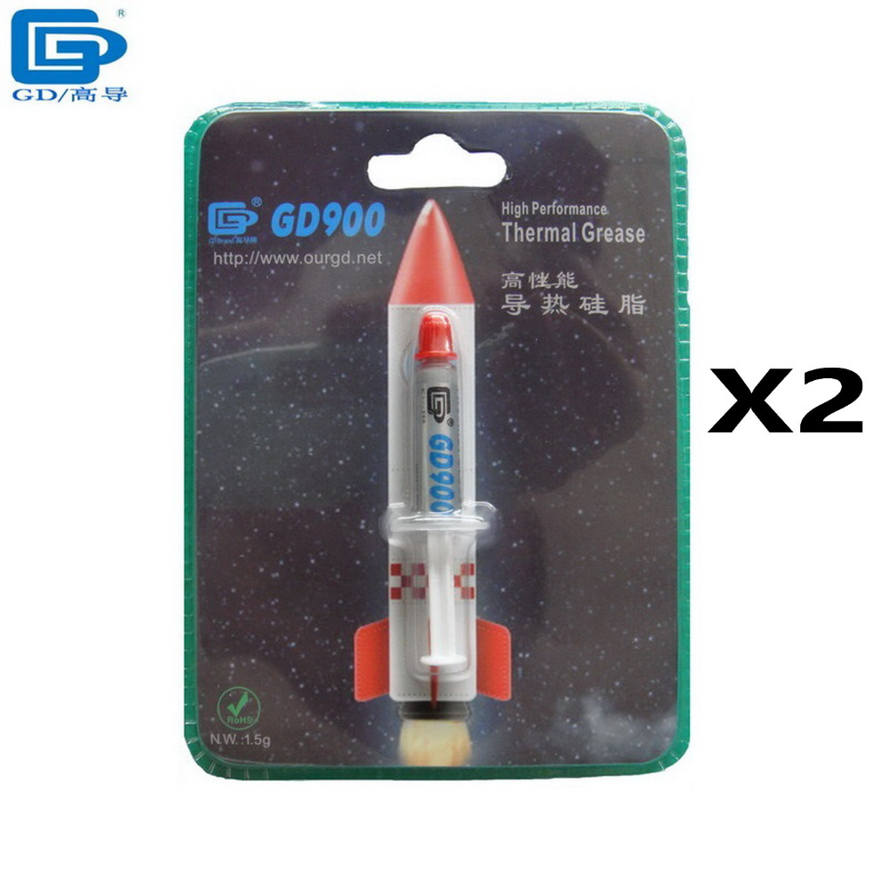 GD Brand 2PCS 1.5g Gray High Performance GD900 Heatsink Thermal Conductive Compound Grease Paste Silicone BR1.5 for CPU PS3 XBOX(China (Mainland))