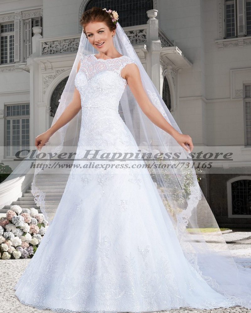 Vestidos de novia 2015 renda elegant country western for Country western wedding dresses