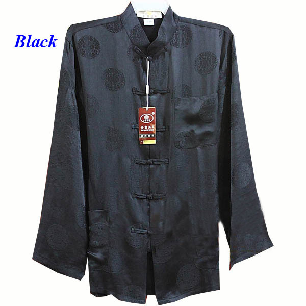 100% mulberry silk Chinese style male long-sleeve shirt,pure silk tang suit,100% silk Chinese style costume,pure silk cheongsam Одежда и ак�е��уары<br><br><br>Aliexpress